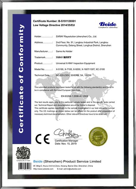 CE-MD产品认证证书
